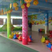 自然风格幼儿园墙体