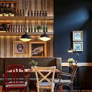 咖啡厅背景墙效果图