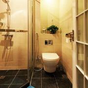 暖色调洗手间效果图