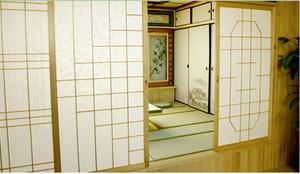 大户型90平米榻榻米卧室门装修效果图