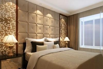 中式簡約臥室背景墻效果圖