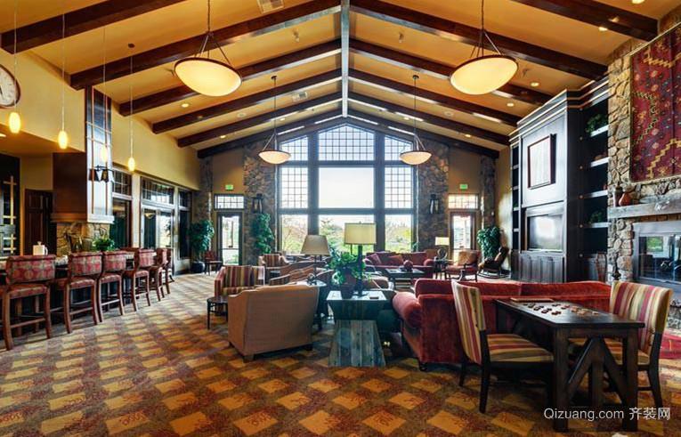复古风格咖啡店装修图片