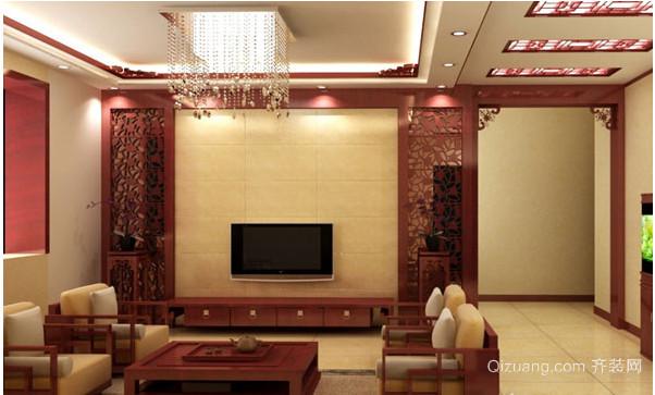 中式电视背景墙装修效果图