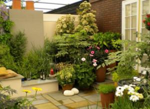 屋顶花园绿化效果图