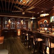 深色调酒吧设计图片