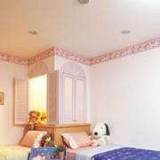暖色调儿童房效果图