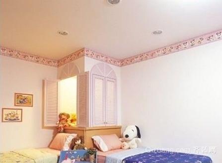 现代简约自然50平米双人儿童房装修效果图