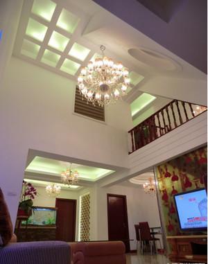 中式复式楼客厅吊顶装修效果图