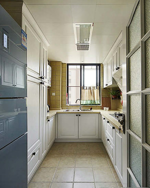 U型时尚厨房装修设计图