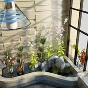 别墅入户花园图片