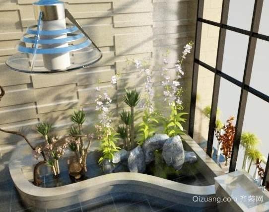 120平米大户型欧式入户花园装修效果图