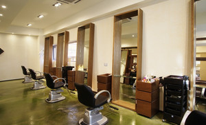 现代简约风格都市美发店装修效果图