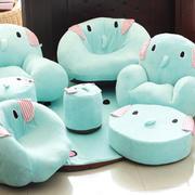 蓝色调卧室沙发图片
