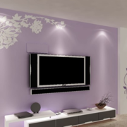 紫色调电视背景墙