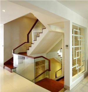 别墅楼梯扶手装修设计效果图