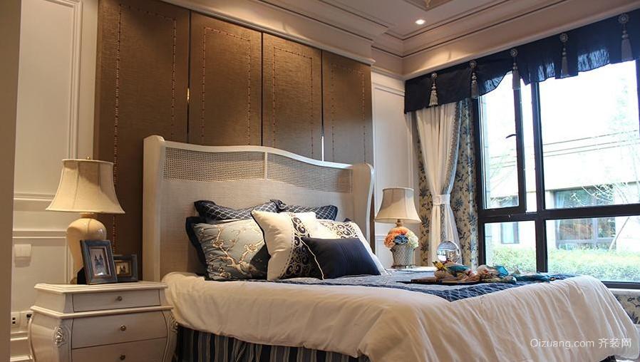 欧式床头软包背景墙装修效果图