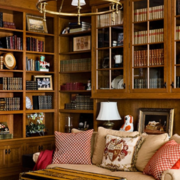 木色调书房装修图片