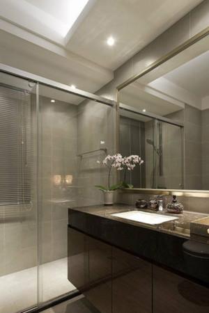 卫生间玻璃隔断门装修效果图