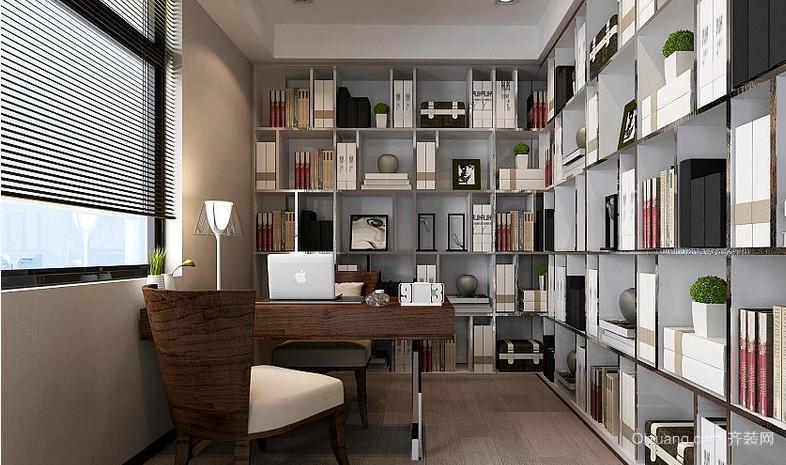 70平小户型开放式书房装修设计效果图