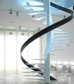 现代中式旋转楼梯装修效果图