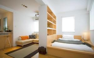 120平米大户型日式卧室隔断榻榻米背景图装修效果图
