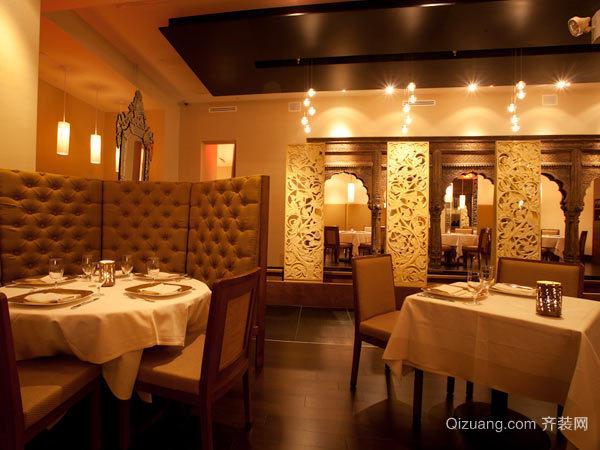 大户型米其林餐厅吊顶背景墙装修效果图