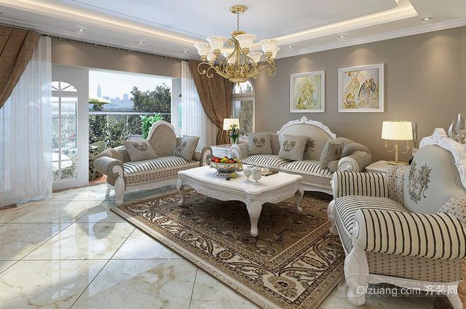 欧式沙发背景墙装修风格效果图