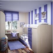紫色调卧室壁纸图片