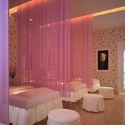 粉色调美容院效果图