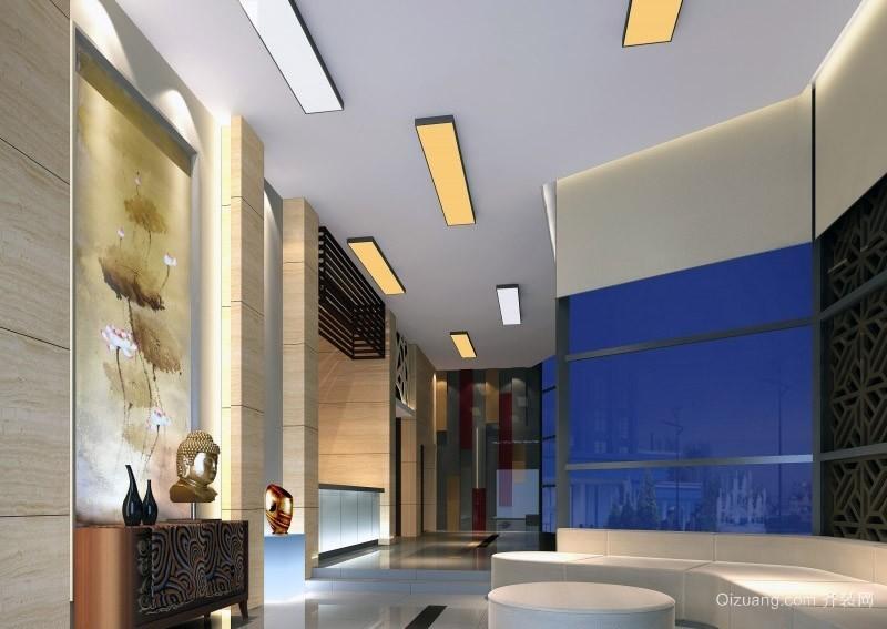 大户型现代宾馆大厅吊顶装修效果图