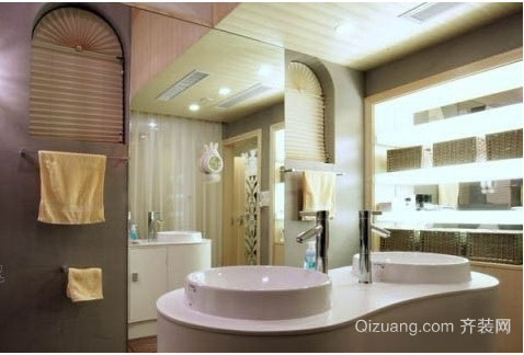 中式小户型 浴室装修效果图