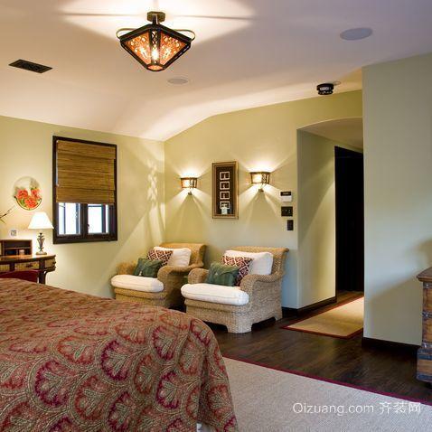 单身公寓卧室隔断壁纸装修设计效果图