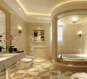 现代欧式酒店卫生间装修效果图