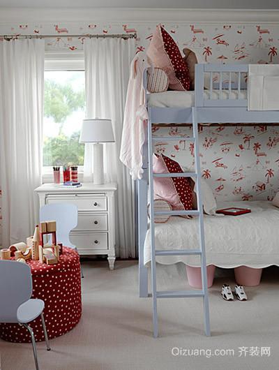 女生粉色创意卧室装修效果图