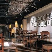 咖啡店设计背景墙图
