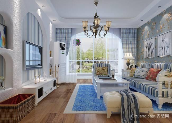 清新靓丽的地中海室内设计客厅装修效果图