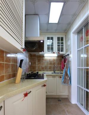 韩式田园风格100平米房屋厨房装修效果图