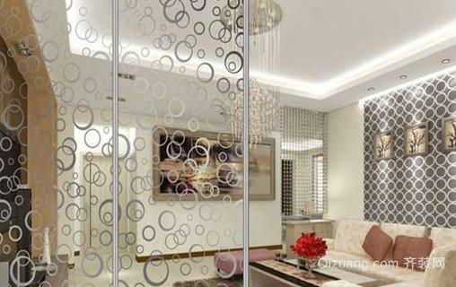 现代简约风格客厅艺术玻璃装修效果图