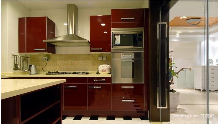 中式开放式厨房装修效果图