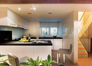 都市厨房吧台装修效果图