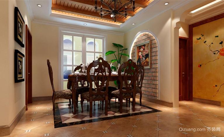 美式风格餐厅背景墙图片