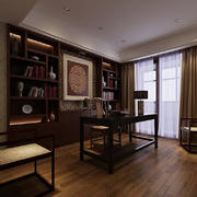 现代书房设计整体图