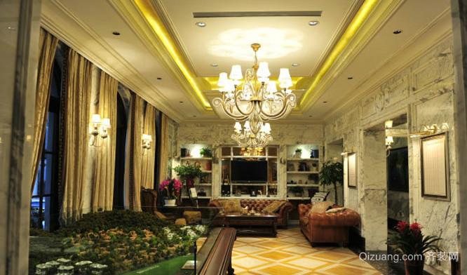 法式复古风格客厅装修效果图