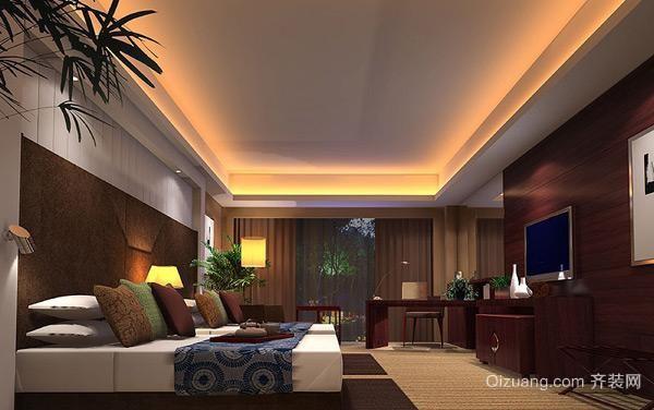 新中式宾馆客房装修图