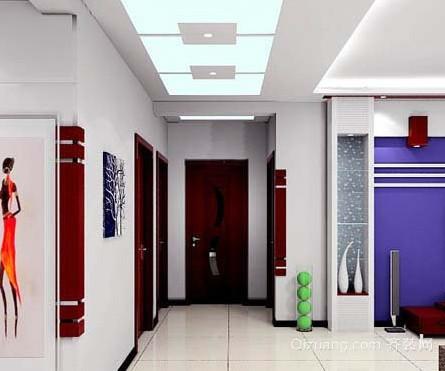 时尚简约装修客厅走廊吊顶效果图