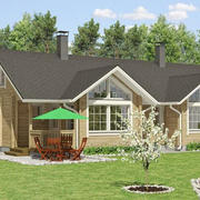 时尚的木屋别墅图
