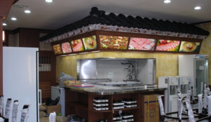 100平米韩式烧烤店装修效果图