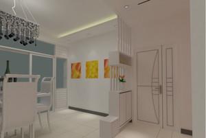 三室一厅大户型欧式客厅鞋柜隔断装修效果图