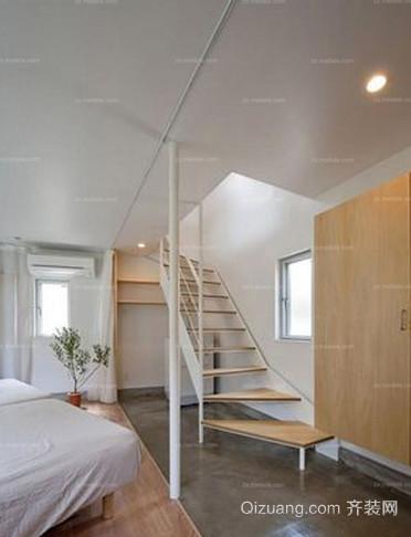 简约范儿十足的日式风格楼梯设计装修效果图