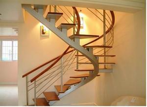 创意别墅旋转楼梯效果图